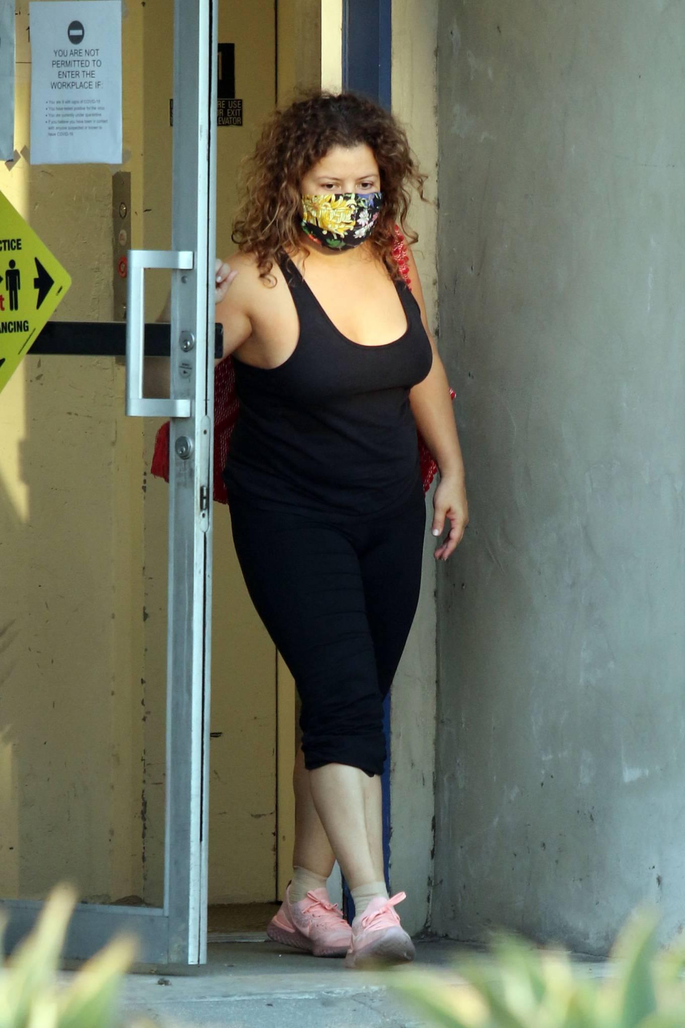 Justina Machado 2020 : Justina Machado – Seen at the dance studio in Los Angeles-06