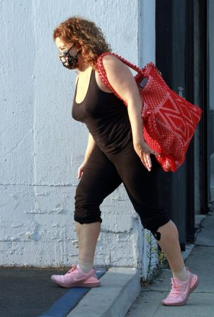 Justina Machado - Seen at the dance studio in Los Angeles