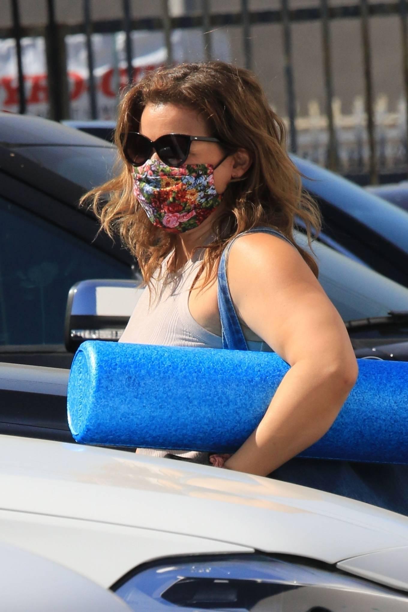 Justina Machado 2020 : Justina Machado – Seen while arriving at the DWTS studio in Los Angeles-05