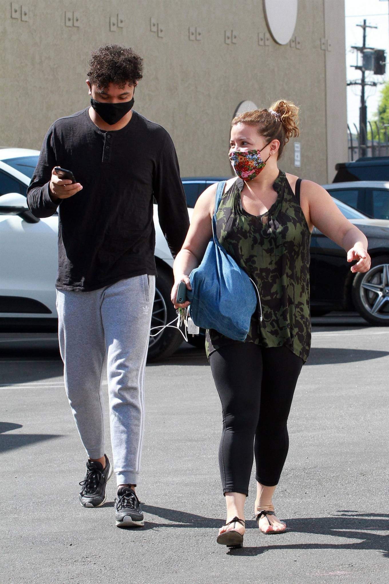 Justina Machado with Brandon Armstrong - Heads into the DWTS studio  in Los Angeles
