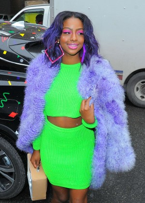 Justine Skye - Arrives at Jerremy Scott NYFW 2016 in New York