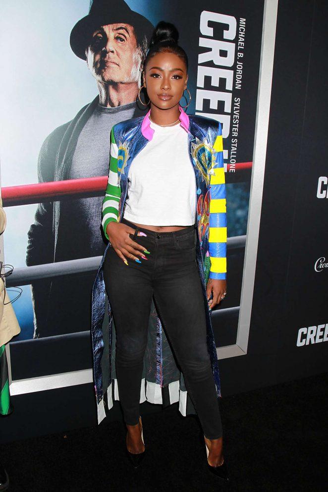 Justine Skye 2018 : Justine Skye: Creed 2 Premiere -04