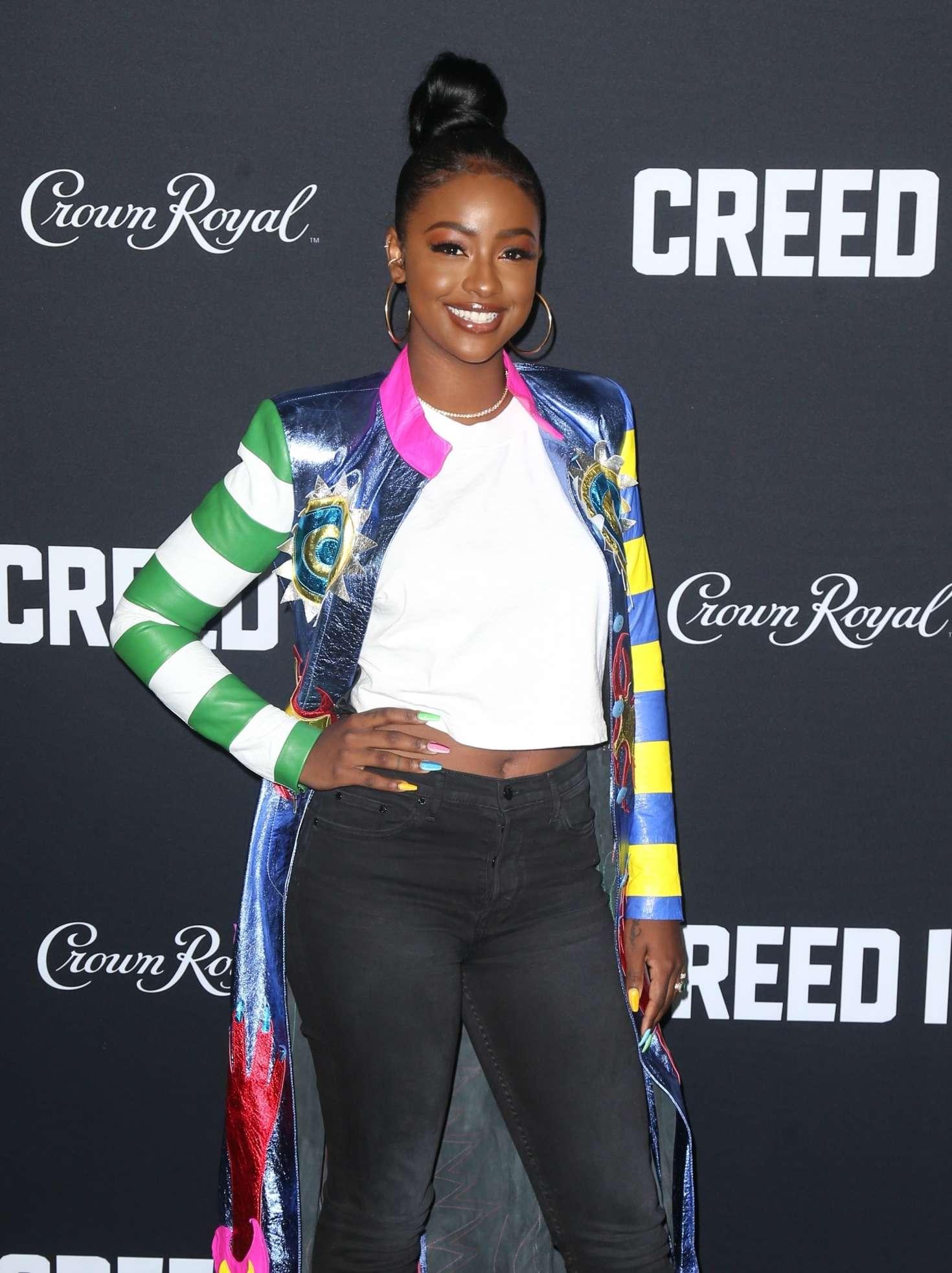 Justine Skye - 'Creed 2' Premiere in New York