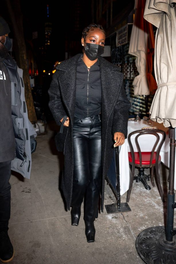 Justine Skye - Out for dinner at Carbone in New York