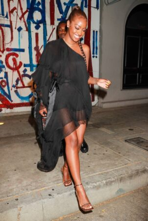 Justine Skye - Seen at Goya Studios for a party in Los Angeles