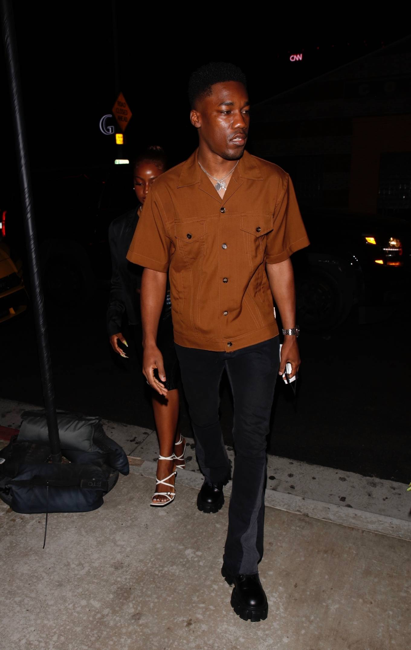 Justine Skye 2021 : Justine Skye – Steps out for a romantic dinner date at TAO in Hollywood-01