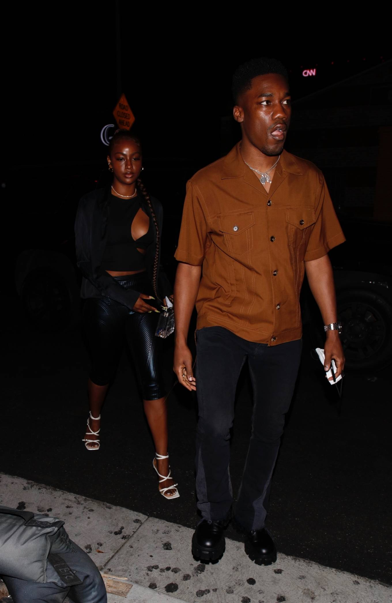Justine Skye 2021 : Justine Skye – Steps out for a romantic dinner date at TAO in Hollywood-05