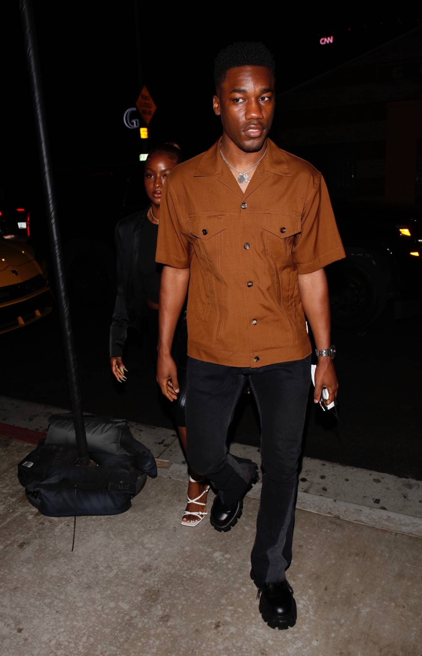 Justine Skye 2021 : Justine Skye – Steps out for a romantic dinner date at TAO in Hollywood-07