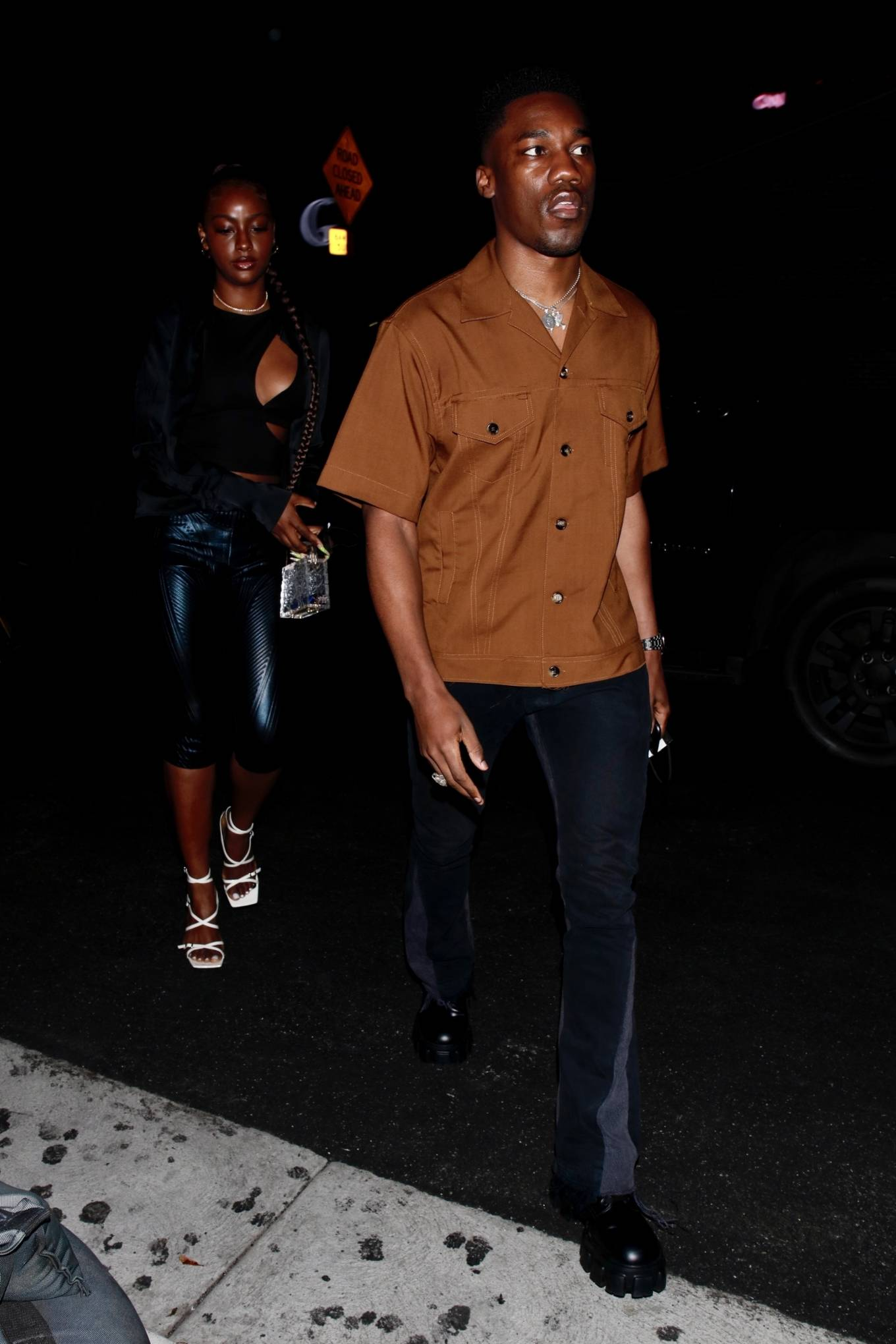 Justine Skye 2021 : Justine Skye – Steps out for a romantic dinner date at TAO in Hollywood-08