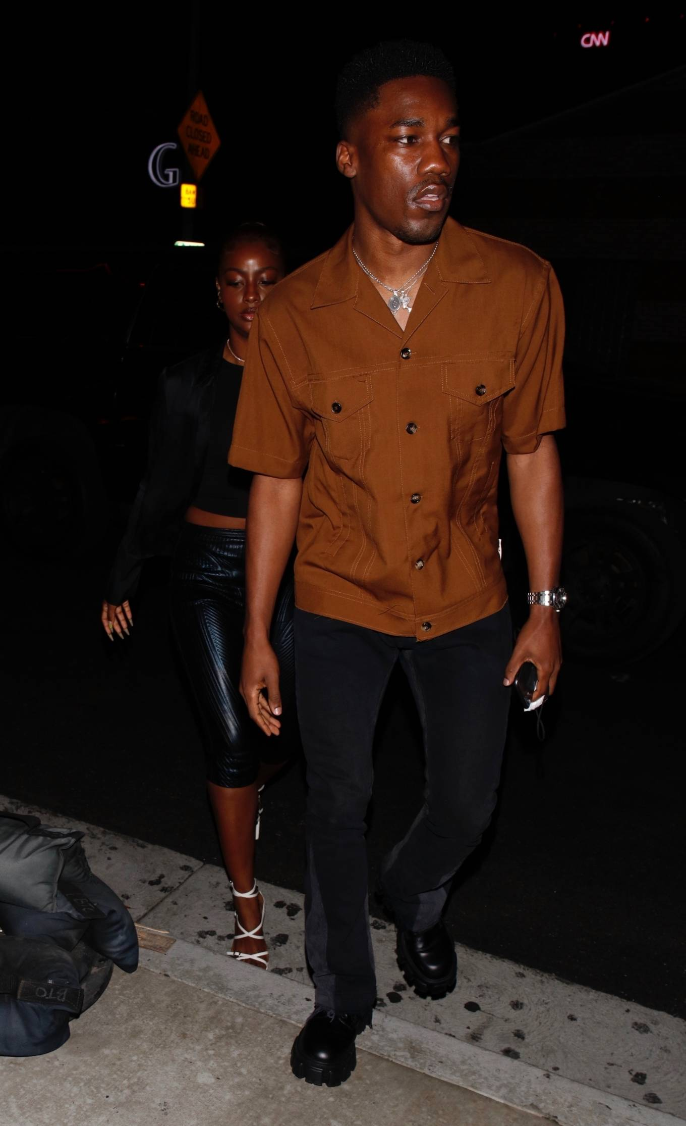 Justine Skye 2021 : Justine Skye – Steps out for a romantic dinner date at TAO in Hollywood-12