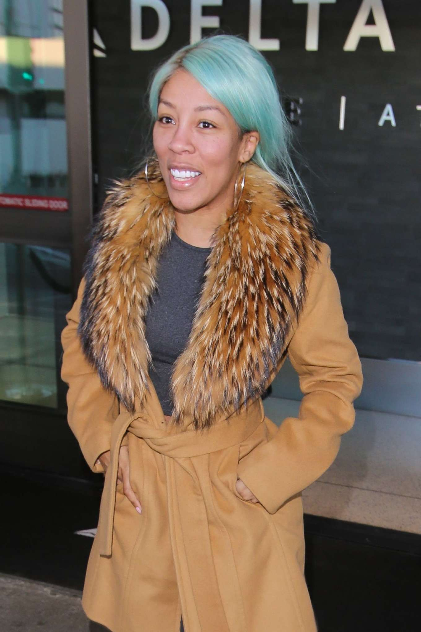K. Michelle - Arrives at LAX Airport in Los Angeles