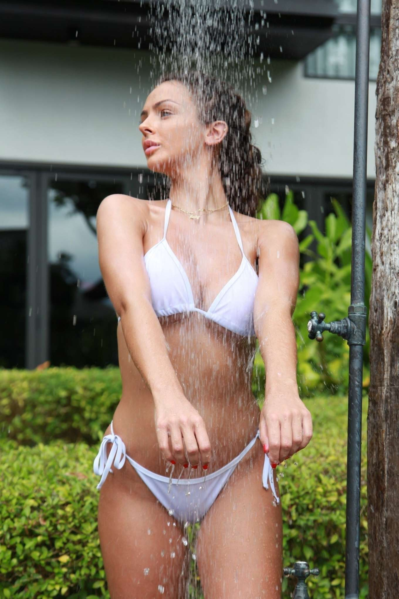 Kady McDermott - Wearing white bikini in Phuket in Thailand