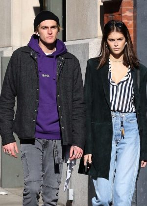 Kaia and Presley Gerber - Out in NYC