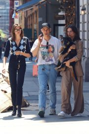 Kaia. Emily and Tommy - Out for lunch in NYC