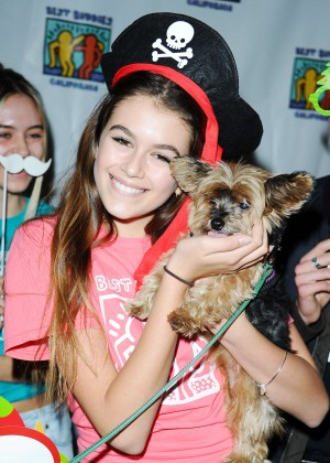 Kaia Gerber - 2015 Bowling For Buddies in Studio City