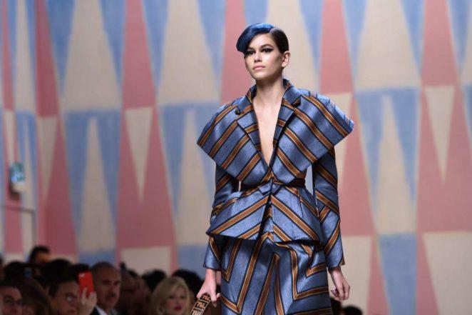 Kaia Gerber – 2017 Fendi Fashion Show in Milan
