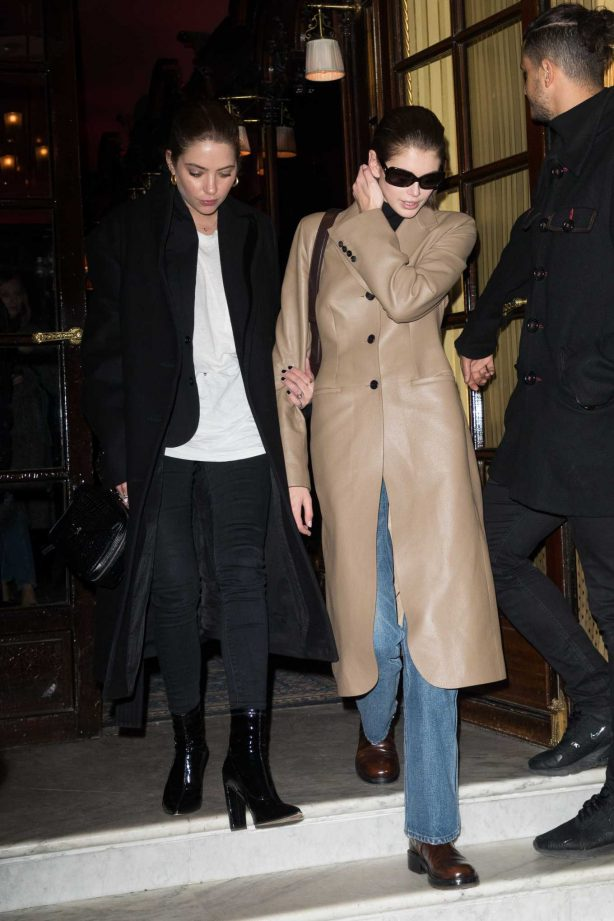 Kaia Gerber and Ashley Benson at Le Costes in Paris