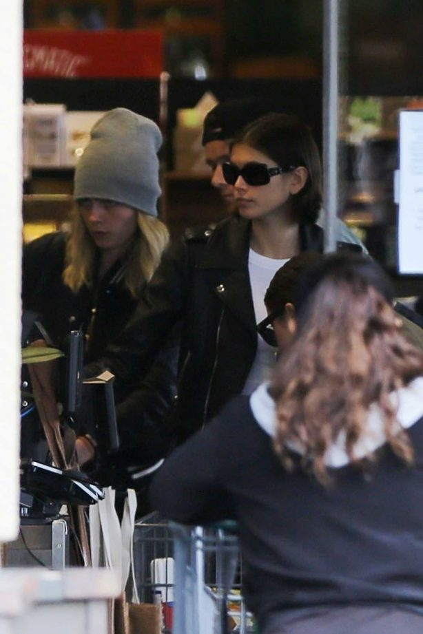 Kaia Gerber and Cara Delevingne - Shopping with friends at Erewhon in West Hollywood