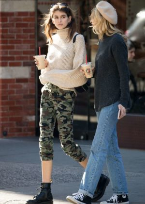 Kaia Gerber and Cayley King out in NYC