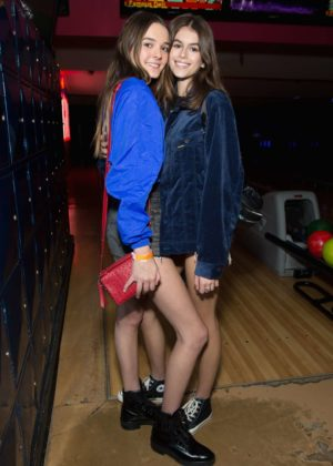 Kaia Gerber and Charlotte Lawrence - Bowling For Buddies at PINZ Bowling and Entertainment Center in Studio City