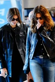 Kaia Gerber and Cindy Crawford - Arrives at LaGuardia Airport in NYC