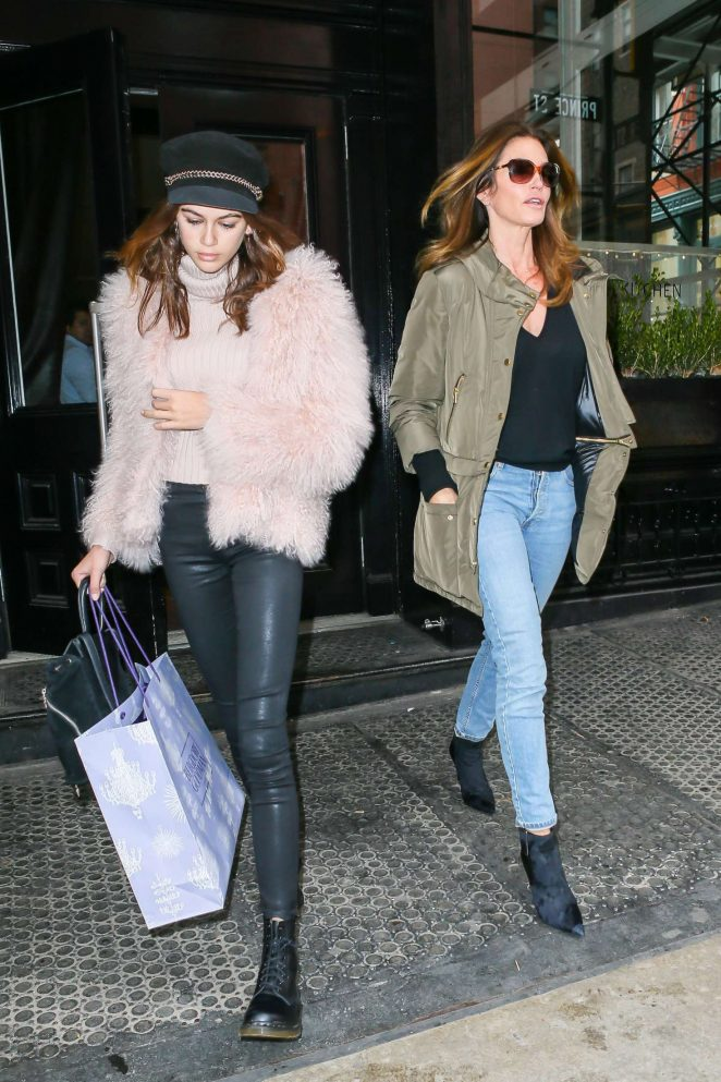 Kaia Gerber and Cindy Crawford at the Mercer Street Hotel in New York