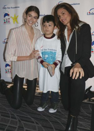 Kaia Gerber and Cindy Crawford - Little Star Foundation Surprise Party and Red Carpet Ceremony in LA