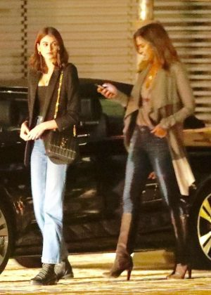 Kaia Gerber and Cindy Crawford - Out for a dinner at Nobu in Malibu