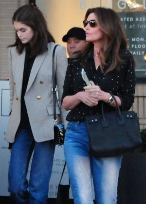 Kaia Gerber and Cindy Crawford - Shopping at Barneys New York in Beverly Hills