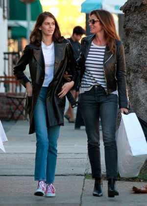Kaia Gerber and Cindy Crawford - Shopping in Los Angeles