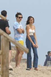 Kaia Gerber and Harry Styles - Spotted at the beach in Malibu