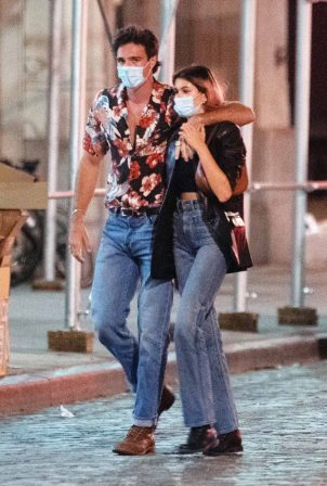 Kaia Gerber and Jacob Elordi - Out for a date in New York City
