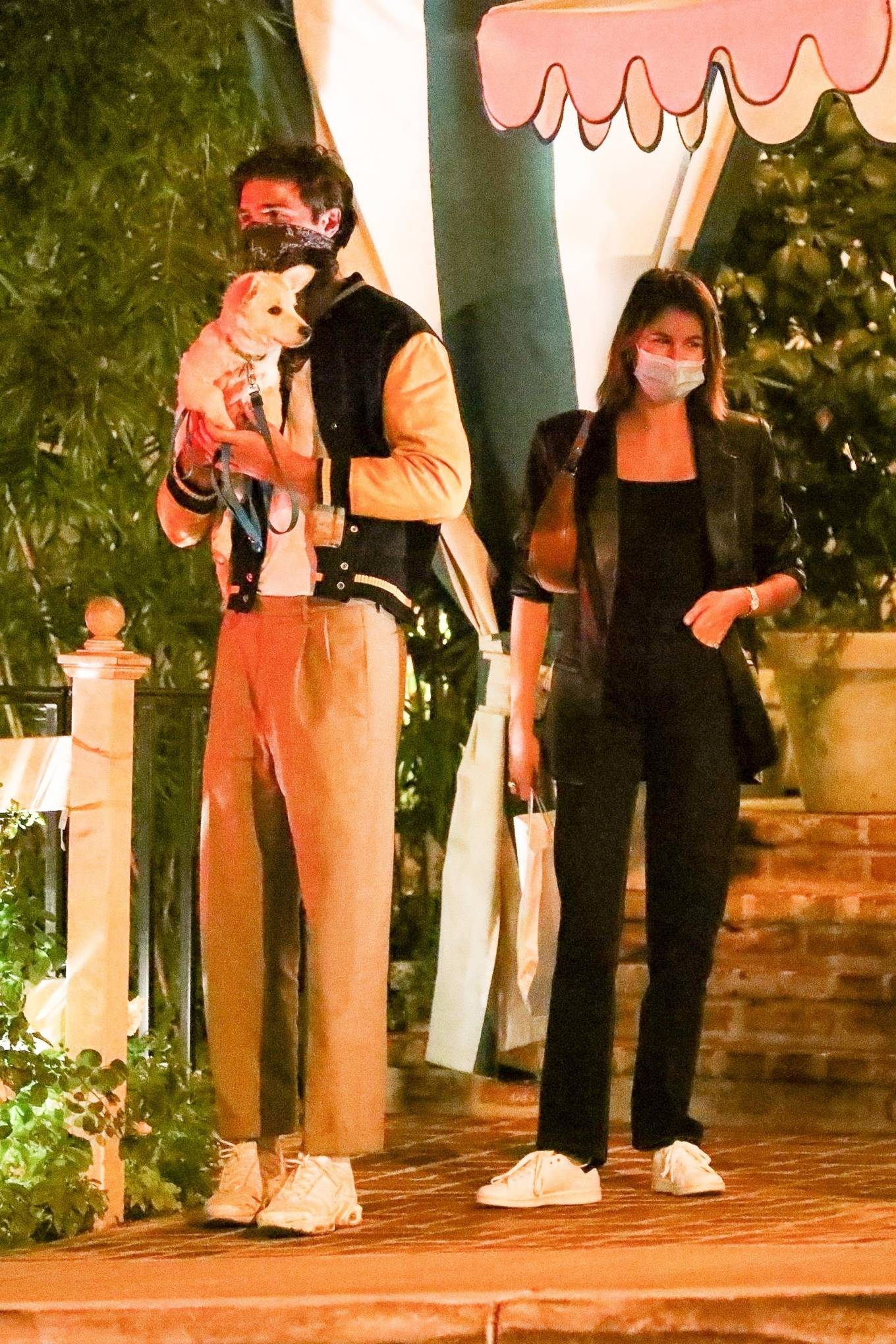 Kaia Gerber and Jacob Elordi - Seen at the San Vicente Bungalows in West Hollywood