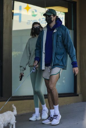 Kaia Gerber and Jacob Elordi - Seen outside Earth Bar in West Hollywood