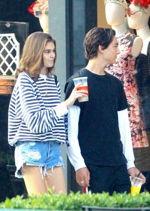 Kaia Gerber and Travis Jackson - Shopping on Rodeo drive in Los Angeles