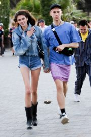 Kaia Gerber and Wellington Grant at Coachella Valley Music and Arts Festival in Indio