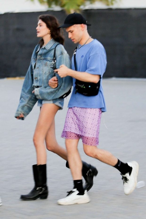 Kaia Gerber and Wellington Grant at Coachella Valley Music and Arts Festival -10