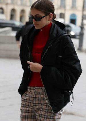 Kaia Gerber - Arrives at Dior for a fitting in Paris
