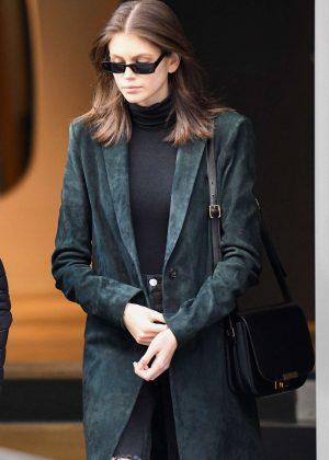 Kaia Gerber - Arrives at Isabelle Marant showroom in Paris