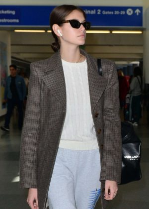 Kaia Gerber - Arrives at LAX Airport in LA