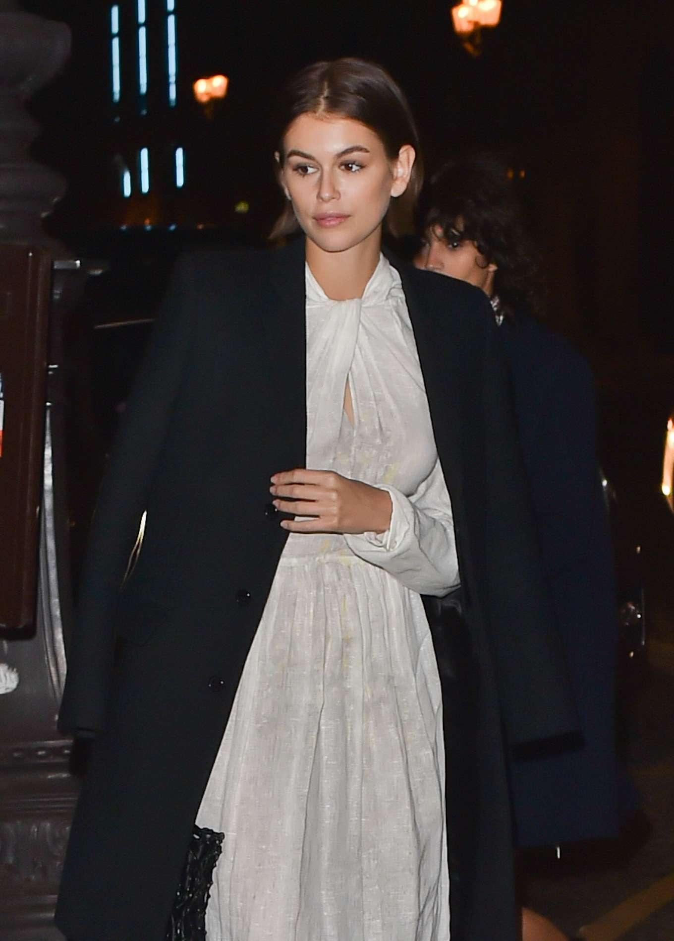 Kaia Gerber - Arrives at the Prada Dinner Party in Paris