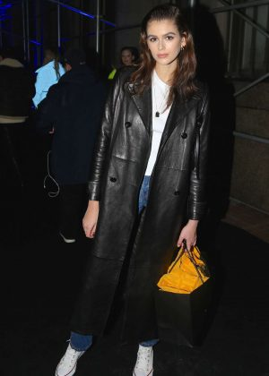 Kaia Gerber - Arrives at the Versace Fashion Show in New York