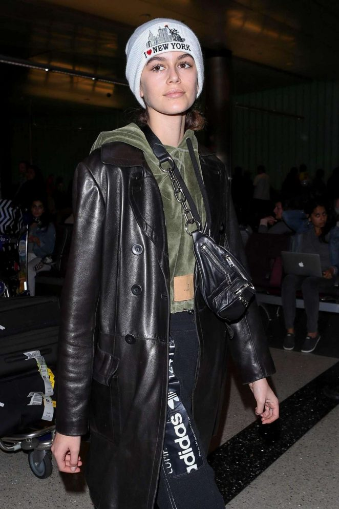 Kaia Gerber - Arrives to LAX Airport in Los Angeles