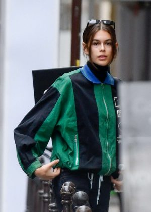 Kaia Gerber - Arriving at Chanel at Cambon Street in Paris
