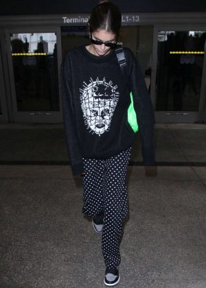 Kaia Gerber - Arriving at LAX Airport in Los Angeles
