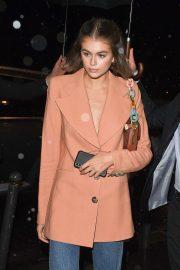 Kaia Gerber - Arriving at Miu Miu After Party Dinner in Paris