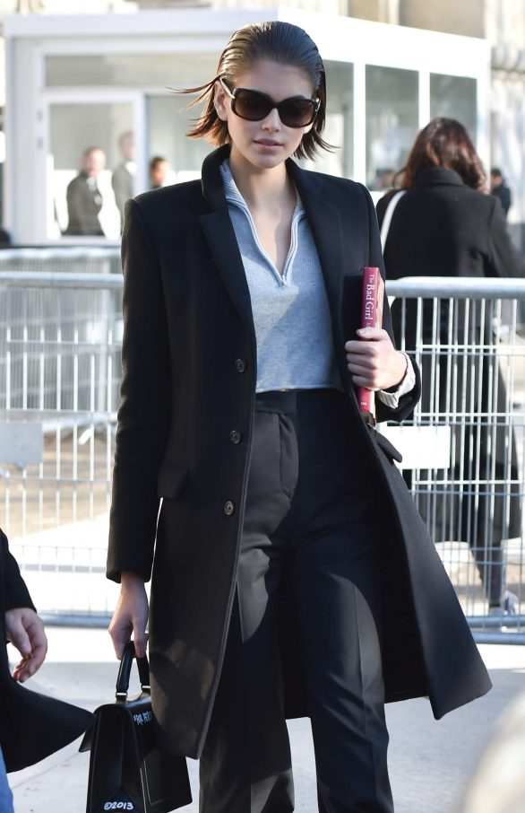 Kaia Gerber - Arriving at the Chanel Fashion Show in Paris
