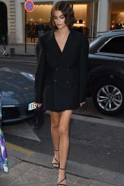 Kaia Gerber - Arriving for 'The Americans in Paris' Event at Paris Fashion Week