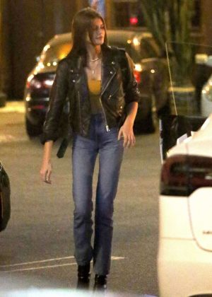 Kaia Gerber at The Saddle Ranch in West Hollywood