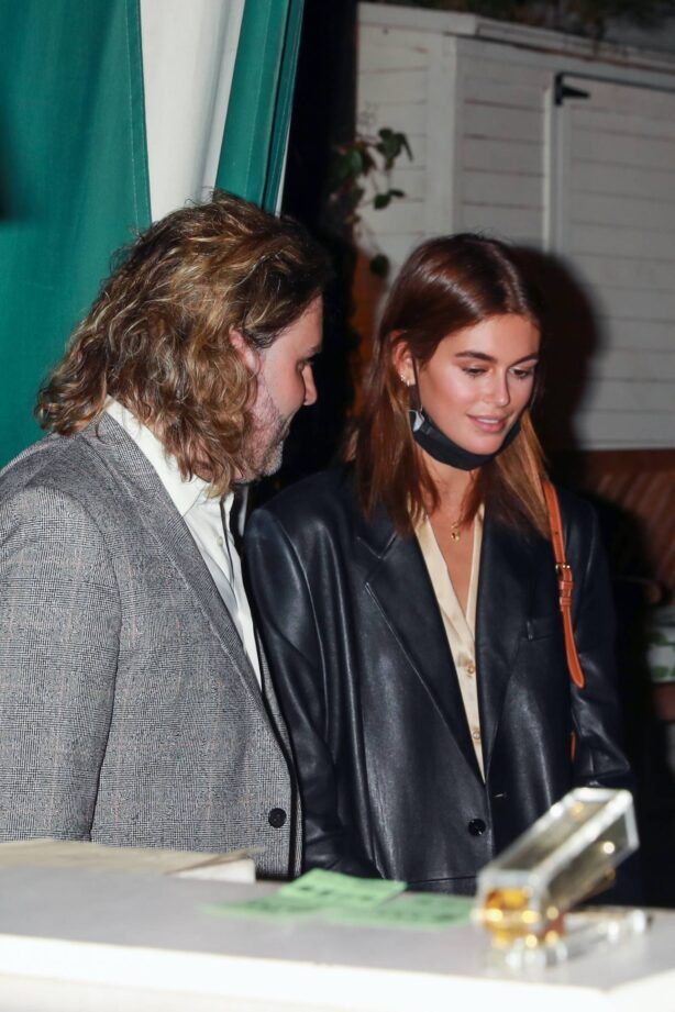 Kaia Gerber - Attends an exclusive James Bond viewing party with a mystery date in West Hollywood